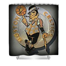 Boston Celtics Shower Curtain by Stephen Stookey