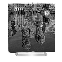 Boston Harbor Reflections Shower Curtain by Joann Vitali