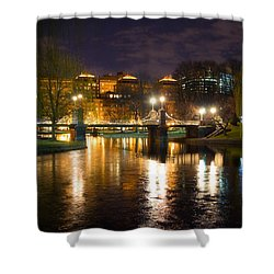 Boston Lagoon Bridge Shower Curtain by Joann Vitali