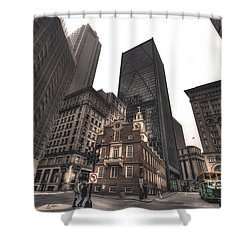 Boston Old State House Shower Curtain by Joann Vitali
