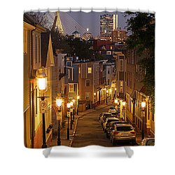 Boston View From Charlestown Shower Curtain by Juergen Roth