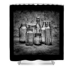 Bottles Shower Curtain by Timothy Bischoff