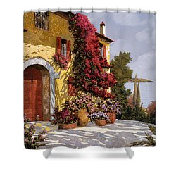 Bouganville Shower Curtain by Guido Borelli