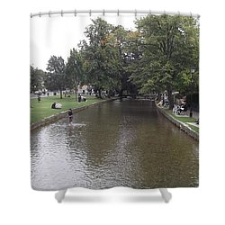 Bourton On The Water Shower Curtain by John Williams