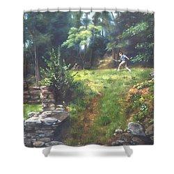 Bouts Of Fantasy Shower Curtain by Lori Brackett