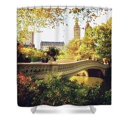 Bow Bridge - Autumn - Central Park Shower Curtain by Vivienne Gucwa