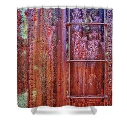 Boxcar Ladder Shower Curtain by Marcia Colelli
