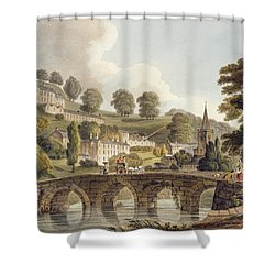 Bradford, From Bath Illustrated Shower Curtain by John Claude Nattes