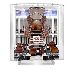 Brain Luggage 2 Shower Curtain by Mike McGlothlen