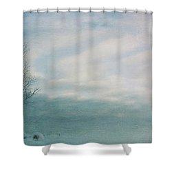 Brave The Black Frost Shower Curtain by Priska Wettstein