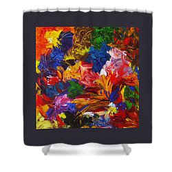 Brazilian Carnival Shower Curtain by Monique Wegmueller