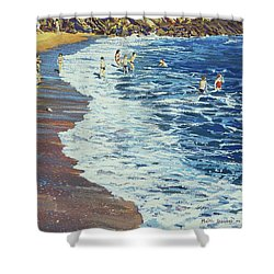 Breakers Shower Curtain by Martin Decent