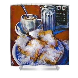 Breakfast At Cafe Du Monde Shower Curtain by Dianne Parks