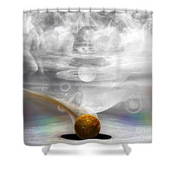 Breathing Life Into A Planet Shower Curtain by Peter R Nicholls