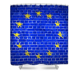 Brick Wall European Union Shower Curtain by Antony McAulay