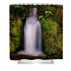 Bridal Dress. Waterfall At Benmore Botanical Garden. Nature Of Scotland Shower Curtain by Jenny Rainbow