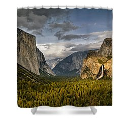 Bridal Vail Fall In The Spotlight Shower Curtain by Eduard Moldoveanu