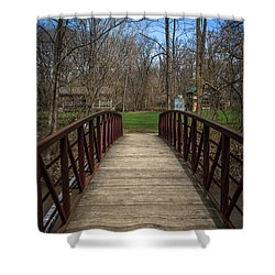 Bridge In Deep River County Park Northwest Indiana Shower Curtain by Paul Velgos
