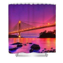 Bridge To Dream Shower Curtain by Midori Chan