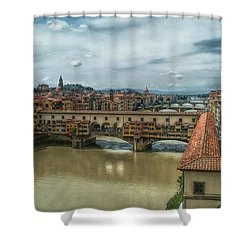Bridges Of Florence Shower Curtain by C H Apperson