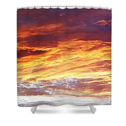 Bright Summer Sky Shower Curtain by Les Cunliffe