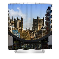 Bristol Cathederal Shower Curtain by Brian Roscorla