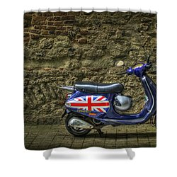 British At Heart Shower Curtain by Evelina Kremsdorf