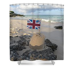 British Sandcastle Shower Curtain by Richard Reeve
