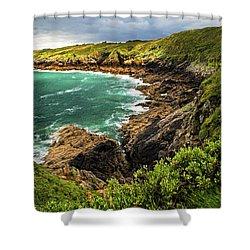 Brittany Coast Shower Curtain by Elena Elisseeva