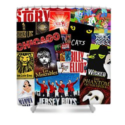 Broadway 1 Shower Curtain by Andrew Fare