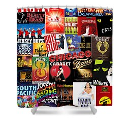 Broadway 4 Shower Curtain by Andrew Fare