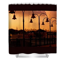 Broadway Junction In Brooklyn Shower Curtain by Monique Wegmueller