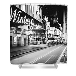 Broadway Theater - Night - New York City Shower Curtain by Vivienne Gucwa