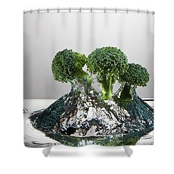 Broccoli Freshsplash Shower Curtain by Steve Gadomski