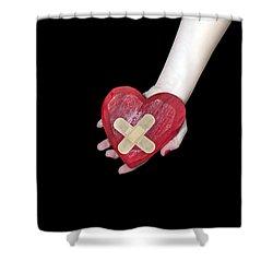 Broken Heart Shower Curtain by Joana Kruse