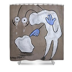 Broken Tooth Shower Curtain by Anthony Falbo