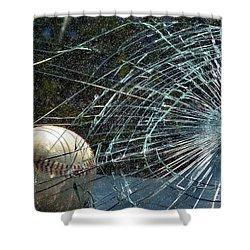 Broken Window Shower Curtain by Robyn King