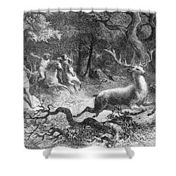 Shower Curtain featuring the photograph Bronze Age, Hunting Scene by British Library