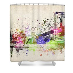 Brooklyn Bridge Shower Curtain by Aged Pixel