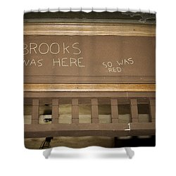 Brooks Was Here Shower Curtain by Jack R Perry