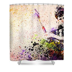 Bruce Springsteen Splats 2 Shower Curtain by Bekim Art