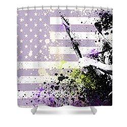 Bruce Springsteen Splats Shower Curtain by Bekim Art