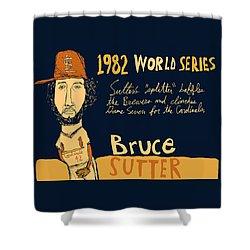 Bruce Sutter St Louis Cardinals Shower Curtain by Jay Perkins