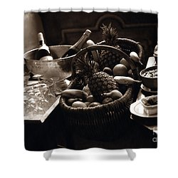 Brunch In The Loire Valley Shower Curtain by Madeline Ellis