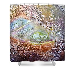 Bubble Boat Shower Curtain by Kathleen Pio