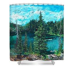 Buck Lake Shower Curtain by Joseph Demaree