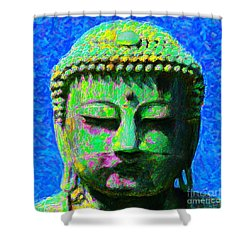 Buddha 20130130p0 Shower Curtain by Wingsdomain Art and Photography