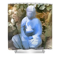 Buddha 3 Shower Curtain by Pamela Cooper