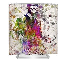 Buddy Holly In Color Shower Curtain by Aged Pixel