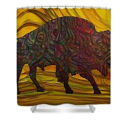 Buffalo Shower Curtain by Jack Zulli